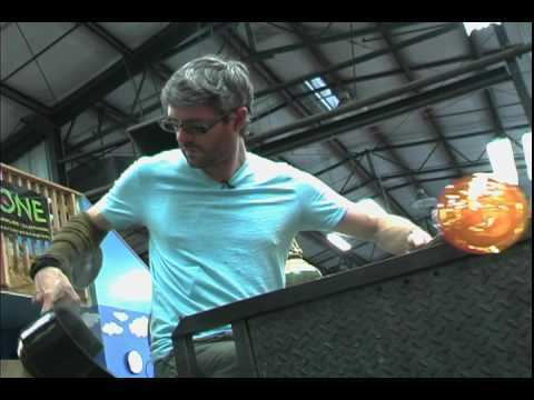 Jeff Ballard (artist) Jeff Ballard Sculpting a Glass Pillow YouTube