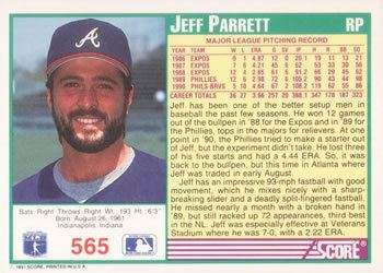 Jeff Parrett Collection Gallery completesetchris Jeff Parrett The Trading