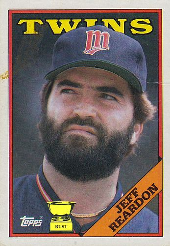 Jeff Reardon Baseball Card Bust Jeff Reardon 1988 Topps