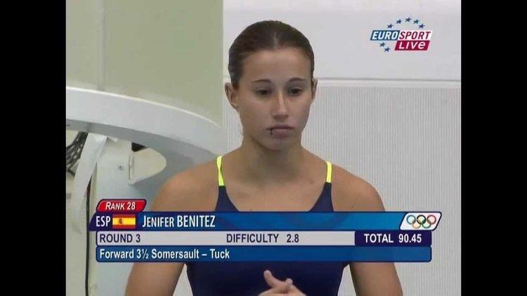 """Jenifer Benítez on the television, live at """"EuroSport"""""""