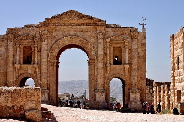 Jerash in the past, History of Jerash