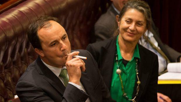 Jeremy Buckingham Greens MP Jeremy Buckingham vapes ecigarette in NSW Parliament