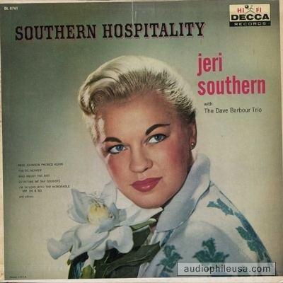 Jeri Southern Southern Jeri Southern Hospitality Vinyl LP Album