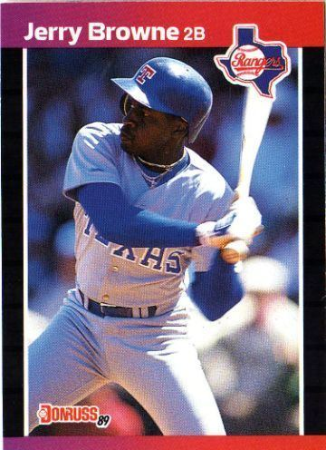 Jerry Browne TEXAS RANGERS Jerry Browne 529 DONRUSS 1989 MLB Baseball Trading Card