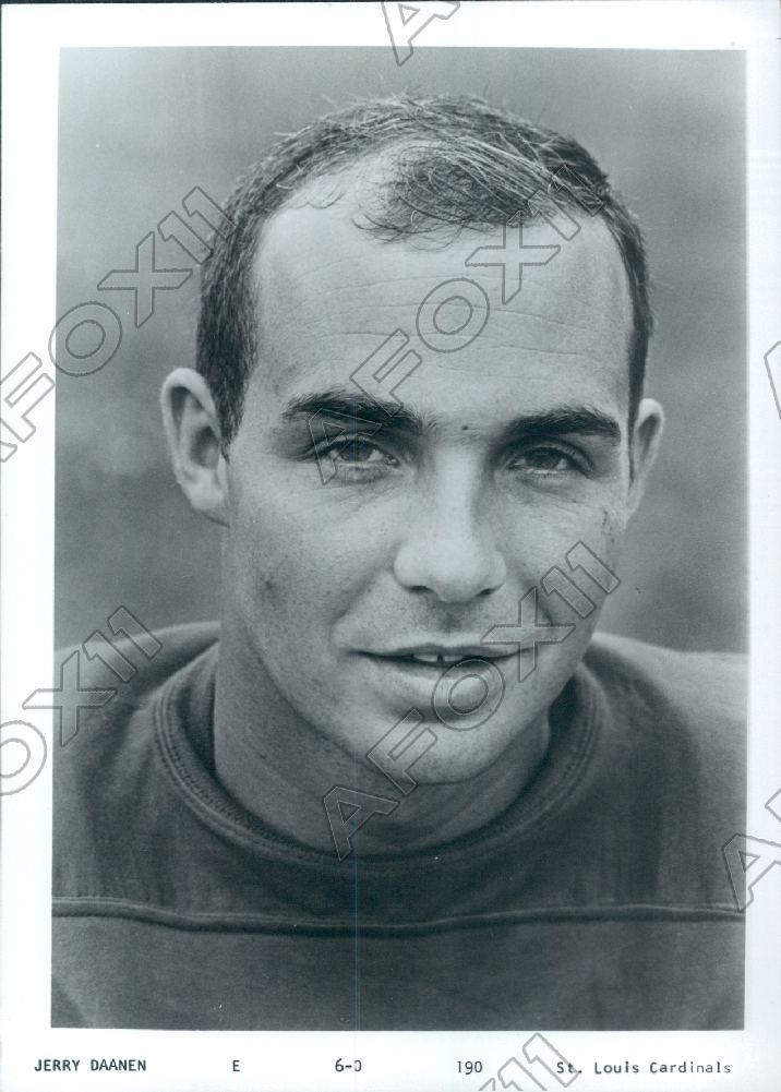 Jerry Daanen 1969 St Louis Cardinals Football Player End Jerry Daanen Press Photo