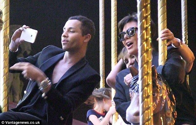Jerry-Go-Round movie scenes Big kid at heart Kris Jenner enjoyed a mini reunion with Balmain s Olivier Rousteing