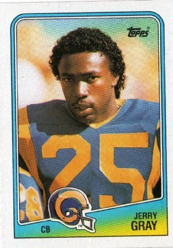 Jerry Gray LOS ANGELES RAMS Jerry Gray 297 TOPPS NFL 1988 American