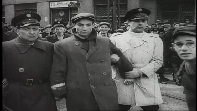 Jewish Ghetto Police Street Scene Warsaw Ghetto Poland 1942 HD Stock Video 375