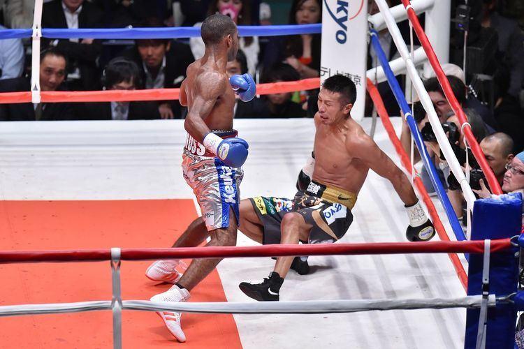 Jezreel Corrales GIF Watch Jezreel Corrales shock Takashi Uchiyama in two rounds