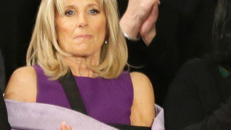 Jill Biden Look at the Camo Cast Jill Biden Sported at the State of