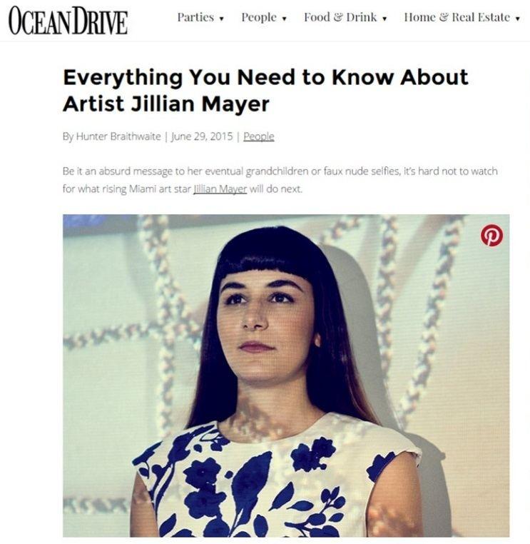 Jillian Mayer Emerging artist Jillian Mayer created cover art for special edition