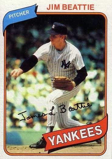 Jim Beattie (baseball) 1980 Topps Baseball 334 Jim Beattie