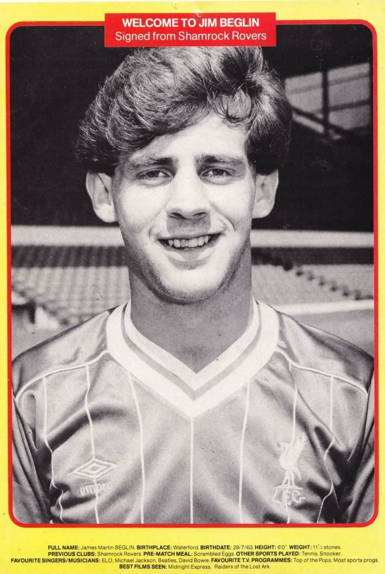 Jim Beglin Liverpool career stats for Jim Beglin LFChistory Stats galore