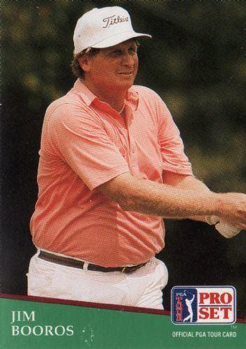 Jim Booros JIM BOOROS 185 Proset 1991 PGA Tour Golf Trading Card