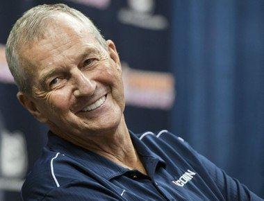 Jim Calhoun Big Y39s D39Amour family retired UConn coach Jim Calhoun to