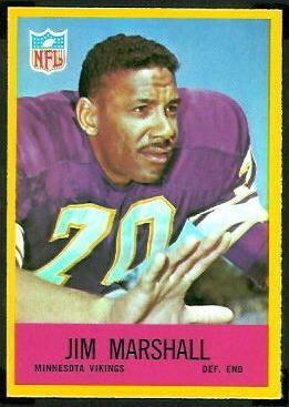 Jim Marshall (American football) wwwfootballcardgallerycom1967Philadelphia103
