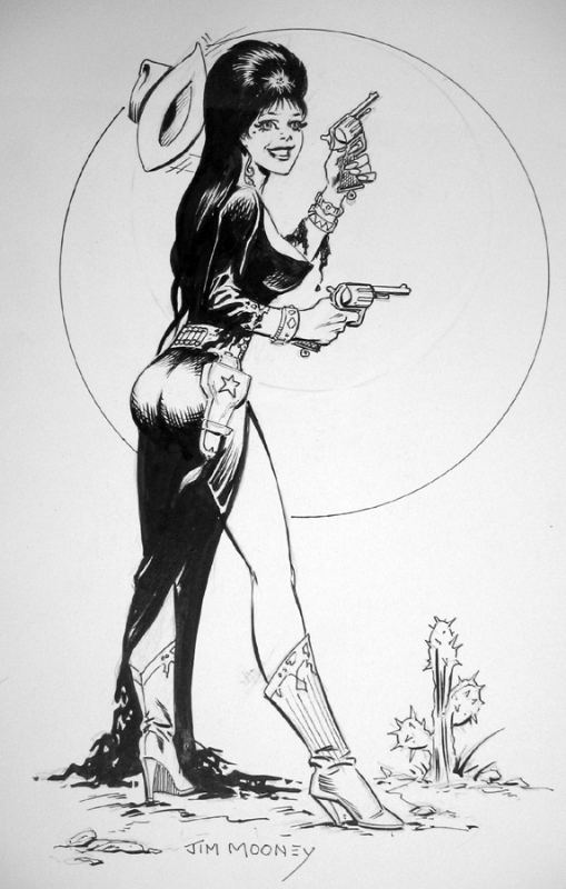 Jim Mooney rfcomicart39s Comic Art Elvira and Supergirl by Jim Mooney