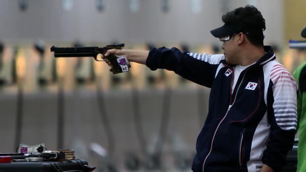 Jin Jong-oh Jin claims pistol gold timesofmaltacom