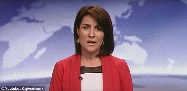Jo Palmer Television news reader Jo Palmer has suffers a coughing fit on air