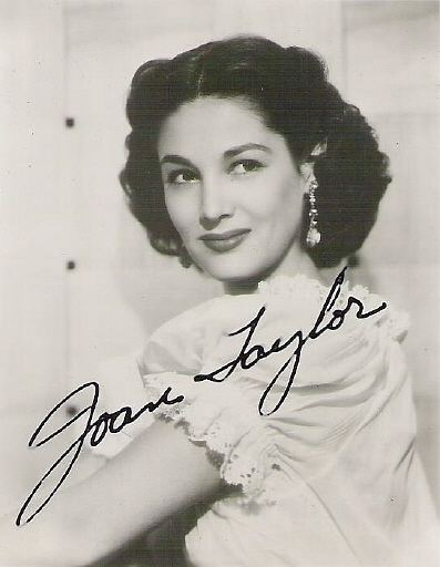 Joan Taylor Joan Taylor publicity photograph with autograph