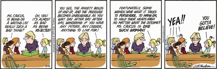 Joanie Caucus Doonesbury Watch When Joanie Caucus applied to law school Al