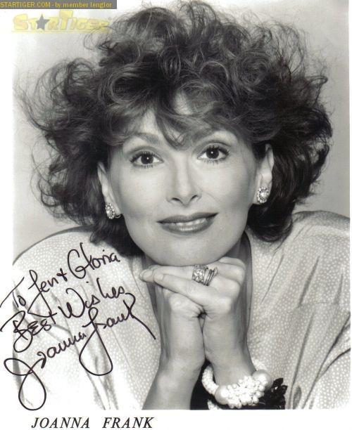 Joanna Frank Joanna Frank autograph collection entry at StarTiger