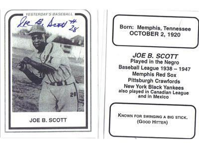 Joe B. Scott Say It Aint So Farewell to Negro Leagues Star Joe B Scott 0407
