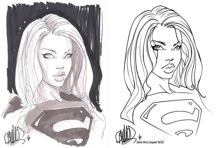 Joe Benitez Joe Benitez Supergirl Inked by EricLinquist on DeviantArt