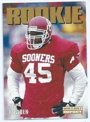 Joe Bowden OKLAHOMA Joe Bowden 349 Rookie SKYBOX Impact 1992 NFL American
