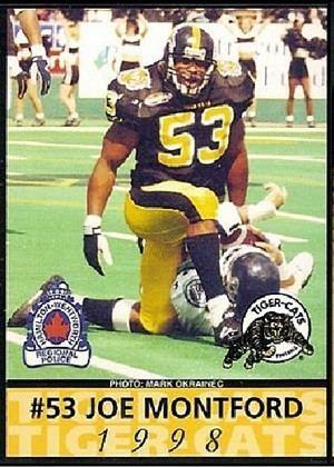Joe Montford 1998 Joe Montford Hamilton CFL Football ctd Legends of the
