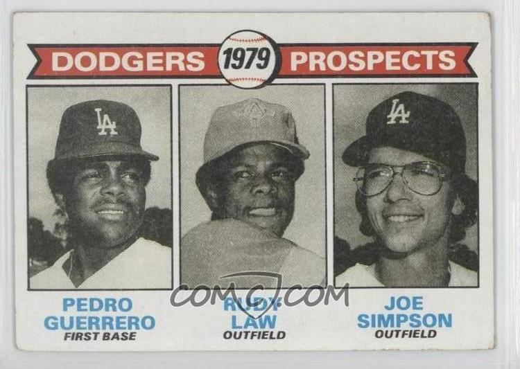 Joe Simpson (baseball) 1979 Topps Base 719 Dodgers Prospects Pedro Guerrero Rudy