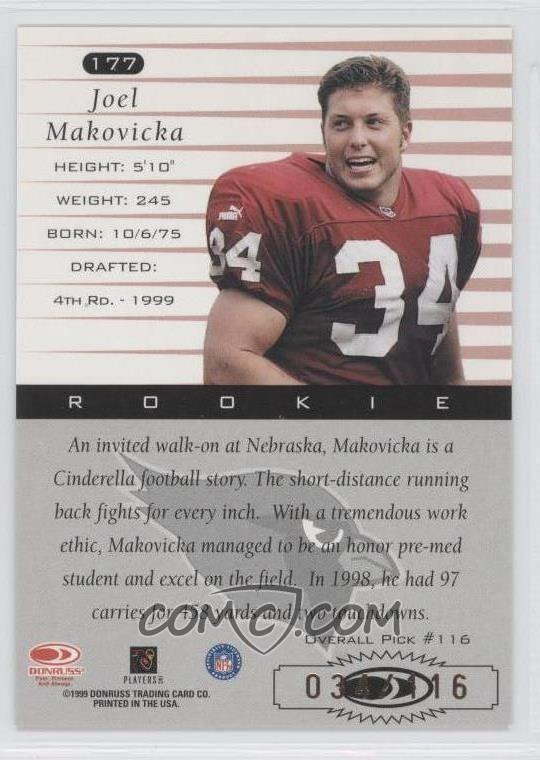 Joel Makovicka 1999 Donruss Stat Line Season 177 Joel Makovicka COMC
