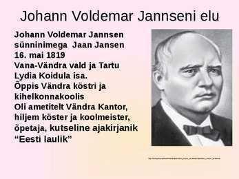 Johann Voldemar Jannsen Johann Voldemar Jansen Perno Postimees I ldlaulupidu