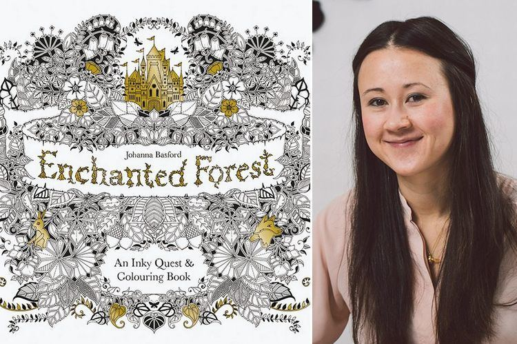 Johanna Basford Colouring book for adults created by British illustrator
