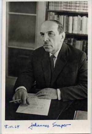 Johannes Semper Group Estonian Writer Poet JOHANNES SEMPER Autographed Photo 1968