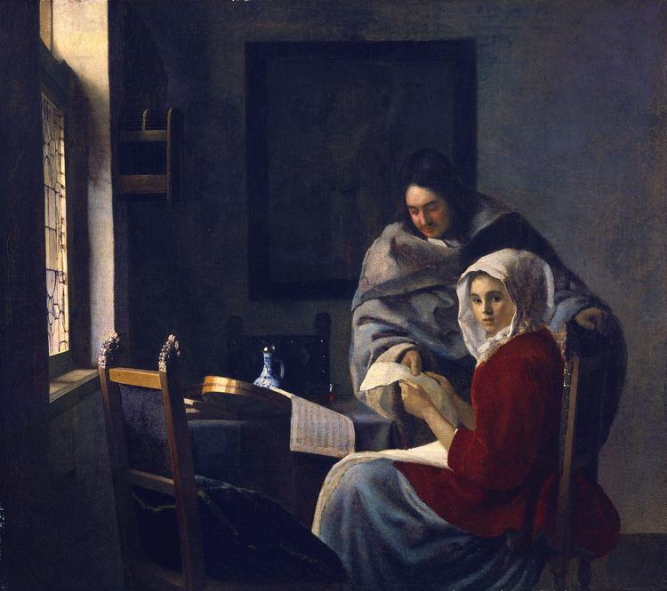Johannes Vermeer Girl interrupted at her music Johannes Vermeer WikiArtorg