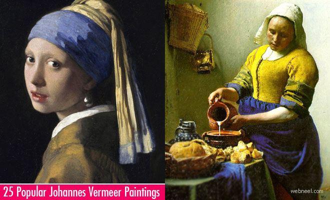 Johannes Vermeer 25 Most Popular Johannes Vermeer Paintings Greatest