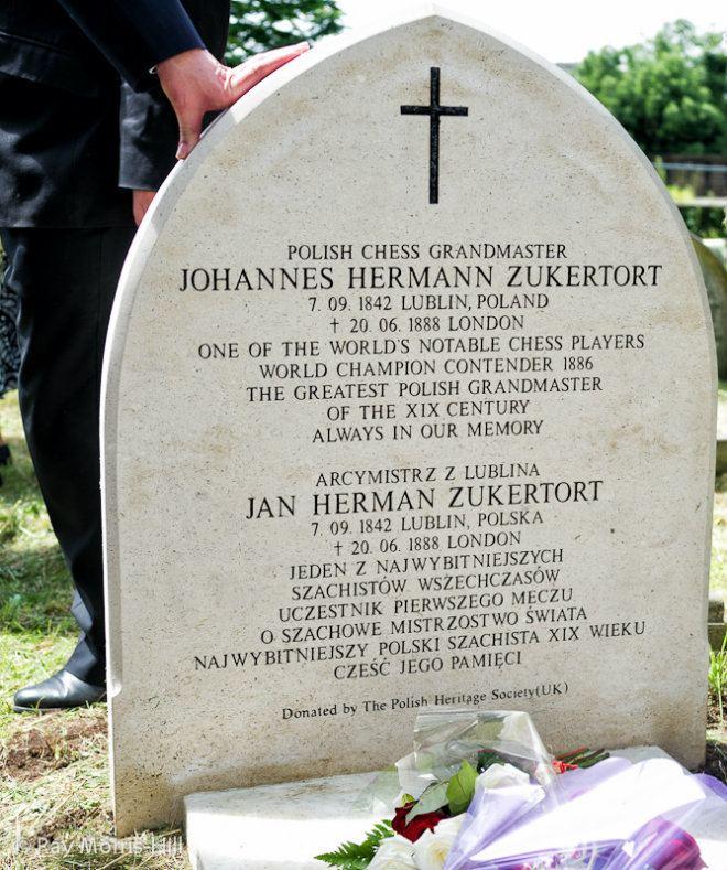 Johannes Zukertort Johannes Zukertort39s Grave Rededicated Chesscom