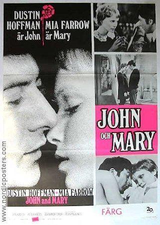 John and Mary (film) John and Mary poster 1969 Dustin Hoffman director Peter Yates original