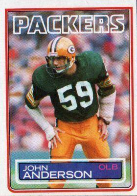 John Anderson (American football) GREEN BAY PACKERS John Anderson 75 TOPPS NFL 1983 American