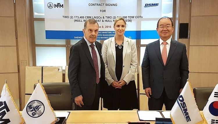 John Angelicoussis Maran back at DSME for more tankers and LNG carriers as KDB pledges