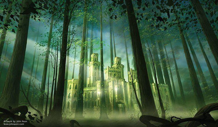 John Avon Amazoncom Artists of Magic Premium Playmats FOREST