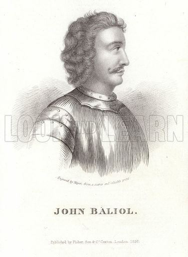 John Balliol Portrait of John Balliol Look and Learn History Picture