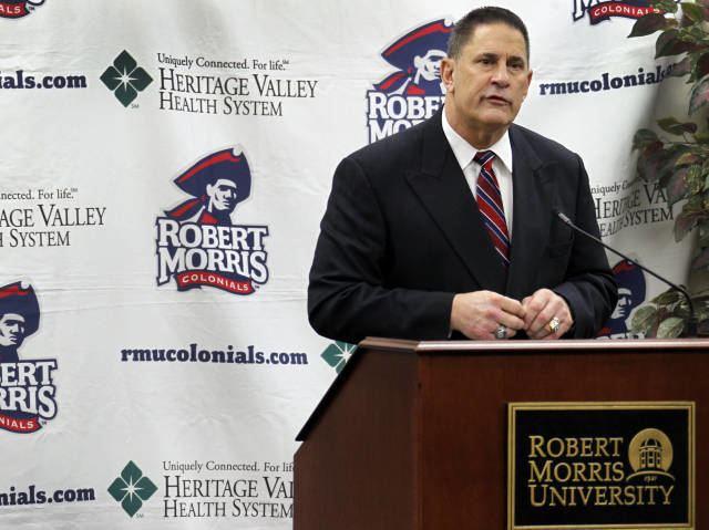 John Banaszak Robert Morris Lays Out Plan for Football Program Walton to Hand
