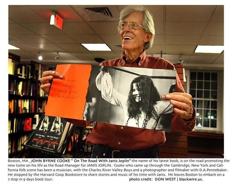 John Byrne Cooke John Byrne Cooke back in Cambridge to promote Janis Joplin book