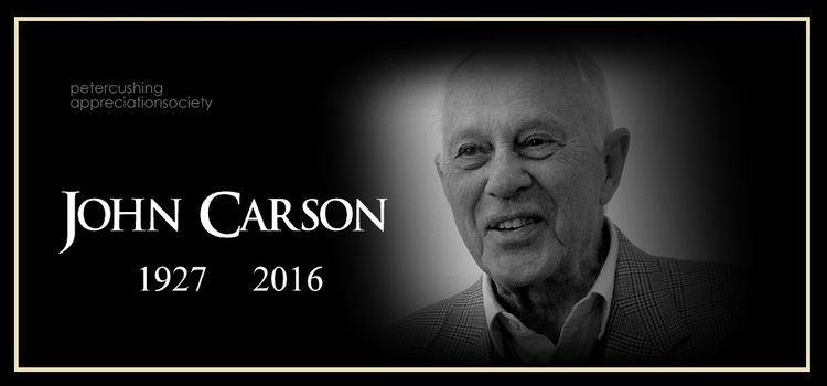 John Carson (actor) PETERCUSHINGBLOGBLOGSPOTCOM PCASUK ACTOR JOHN CARSON 1927 2016