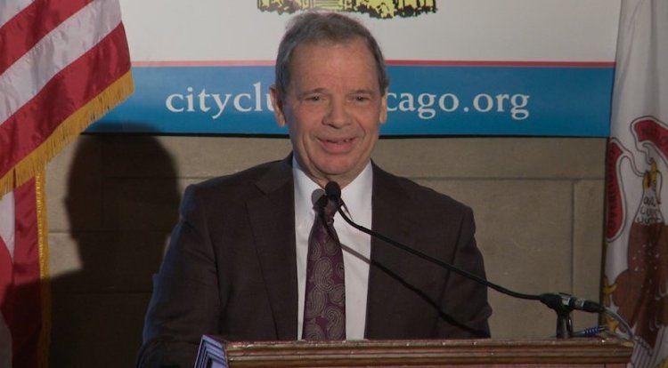 John Cullerton City Club of Chicago Illinois Senate President John Cullerton WGN