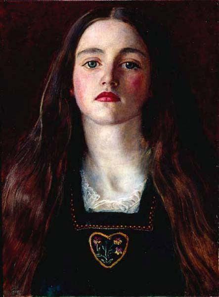 John Everett Millais Portrait of a Girl Sophie Gray by JOHN EVERETT MILLAIS
