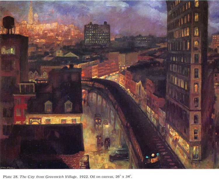 John French Sloan The City from Greenwich Village John French Sloan