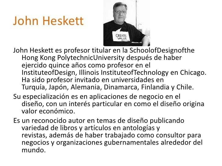 John Heskett El diseo en la vida cotidiana Comunicacionesquot John Heskett